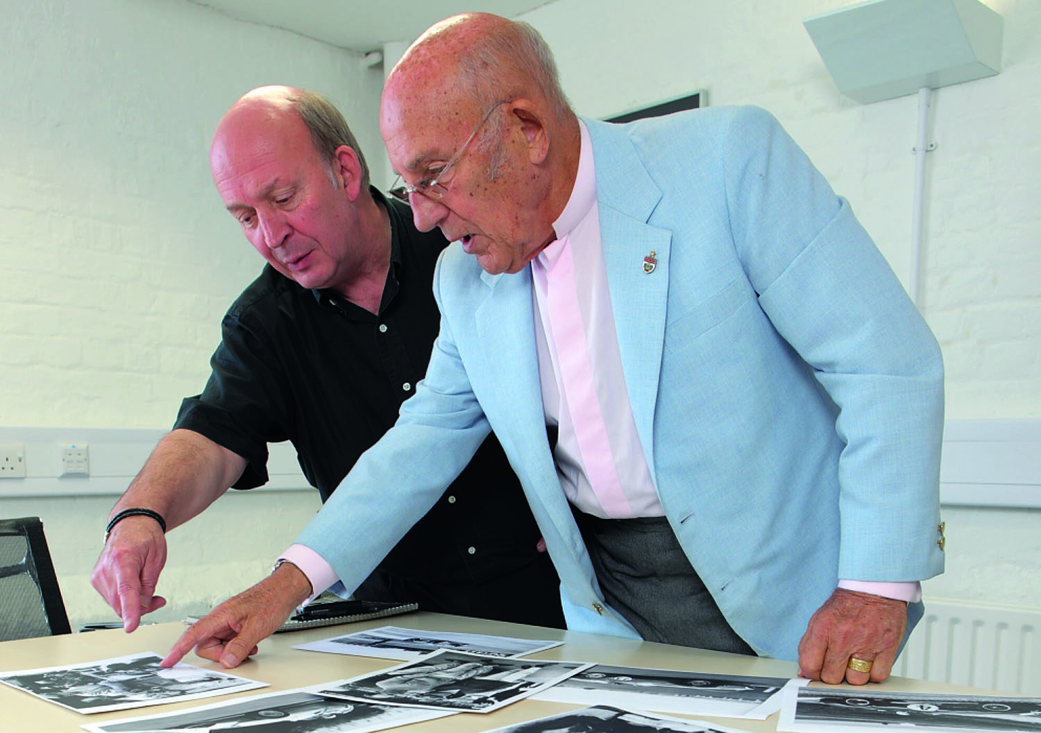 Stirling Moss at Motor Sport with Nigel Roebuck