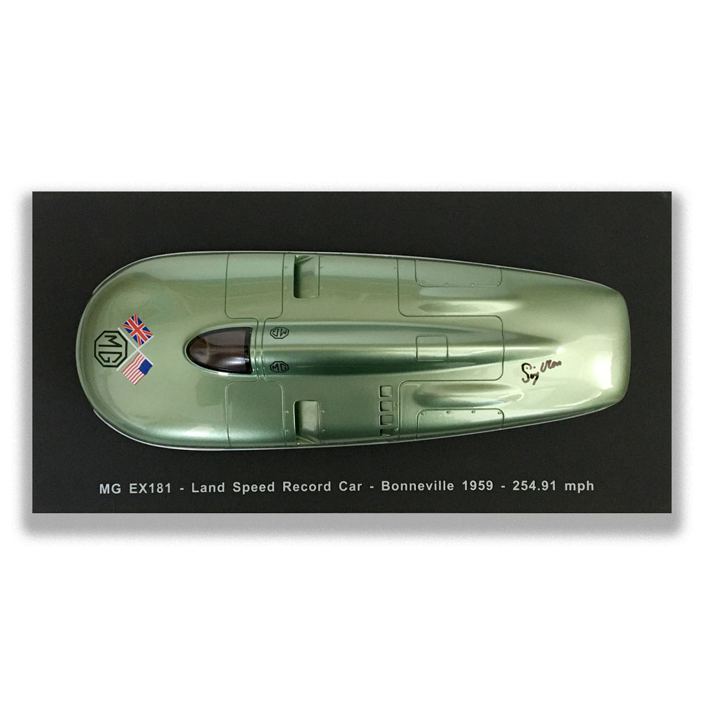 Product image for MG EX181 'Roaring Raindrop', signed Stirling Moss