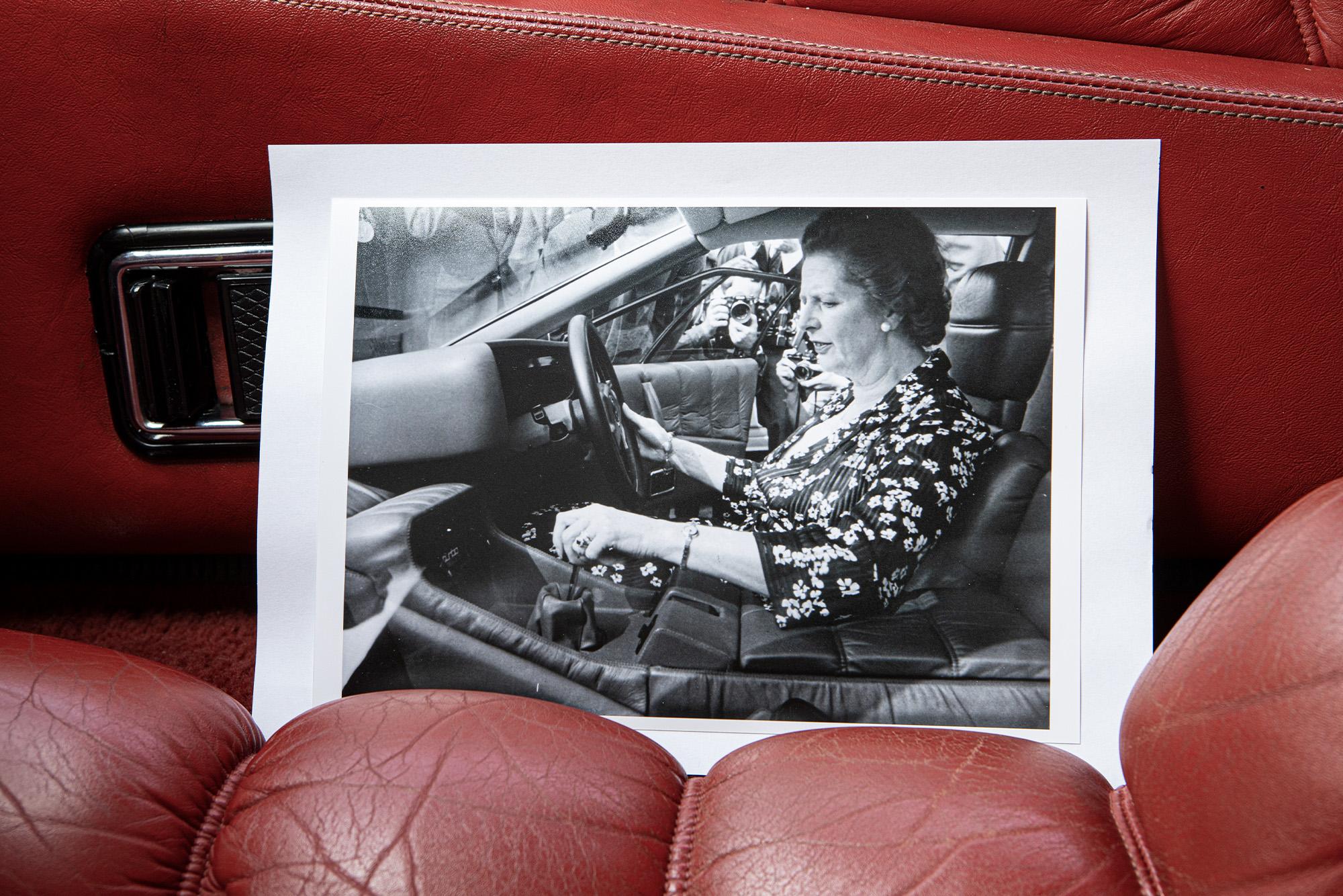 Thatcher driving Esprit