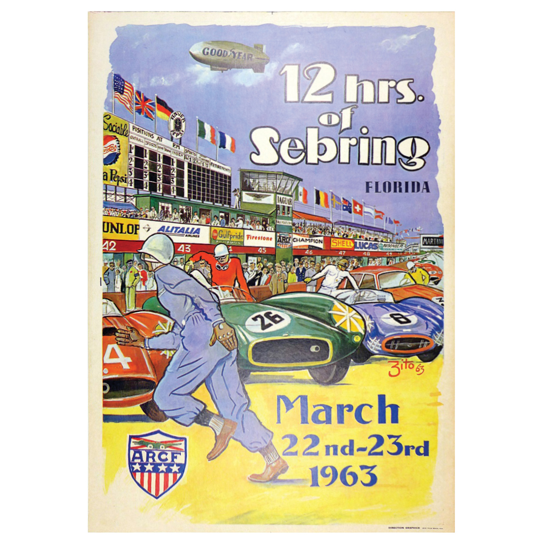 12 hrs of Sebring 1963 poster
