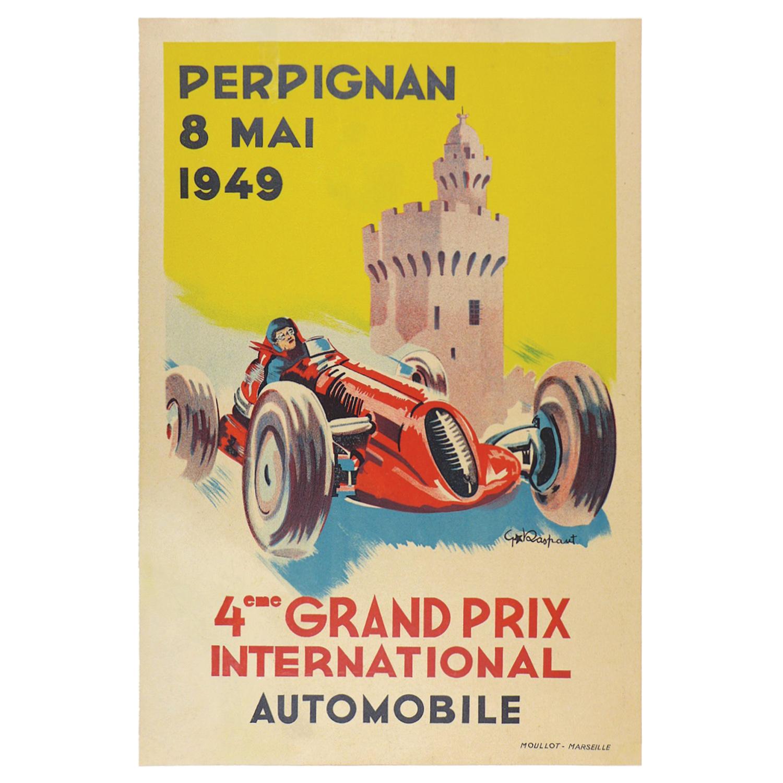 1949 Perpignan Grand Prix poster
