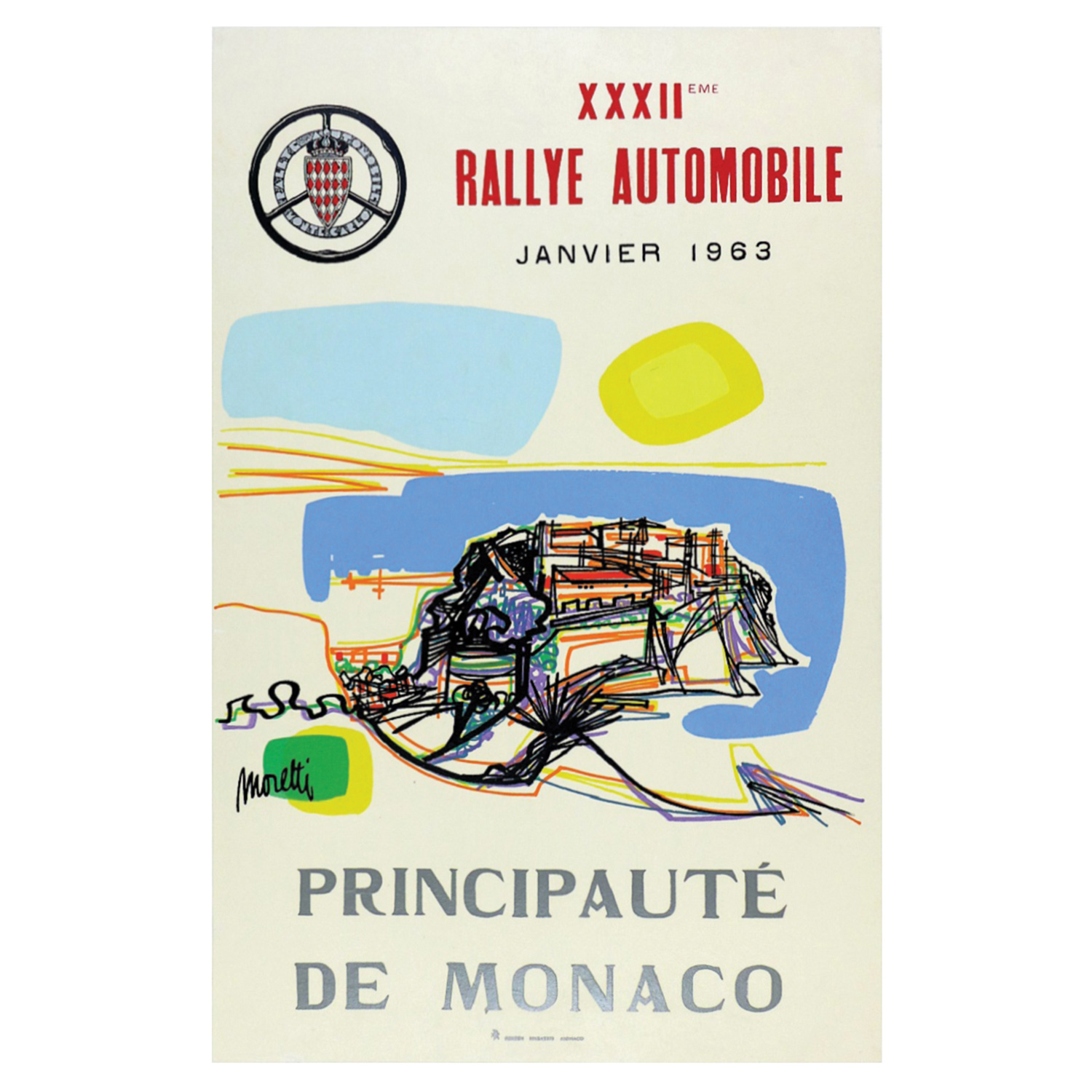 1963 Monte Carlo rally poster