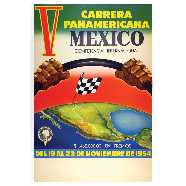 Carrera Panamericana 1954 poster