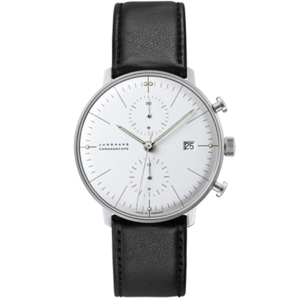 max bill chronoscope leather strap jungehns