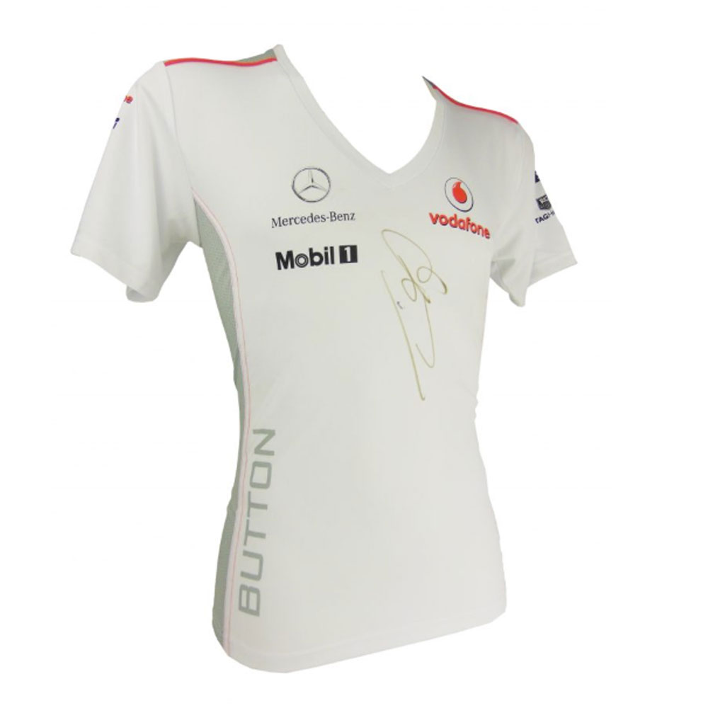 Product image for Signed Jenson Button Shirt – Mclaren British F1 Superstar