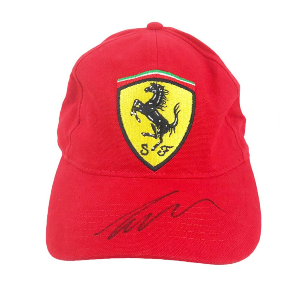 Product image for Signed Niki Lauda Cap – Ferrari Formula 1 Icon