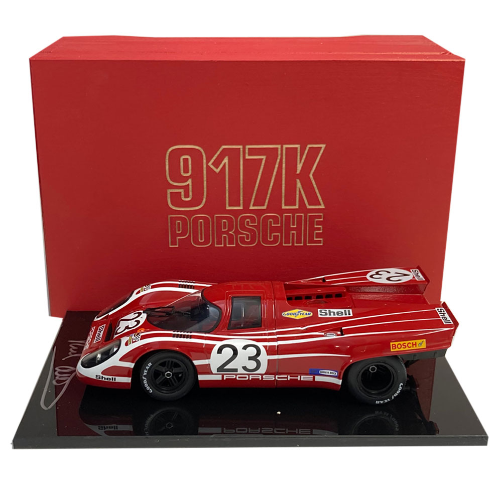 Product image for Boxed 1:18 Porsche 917K, signed Richard Attwood