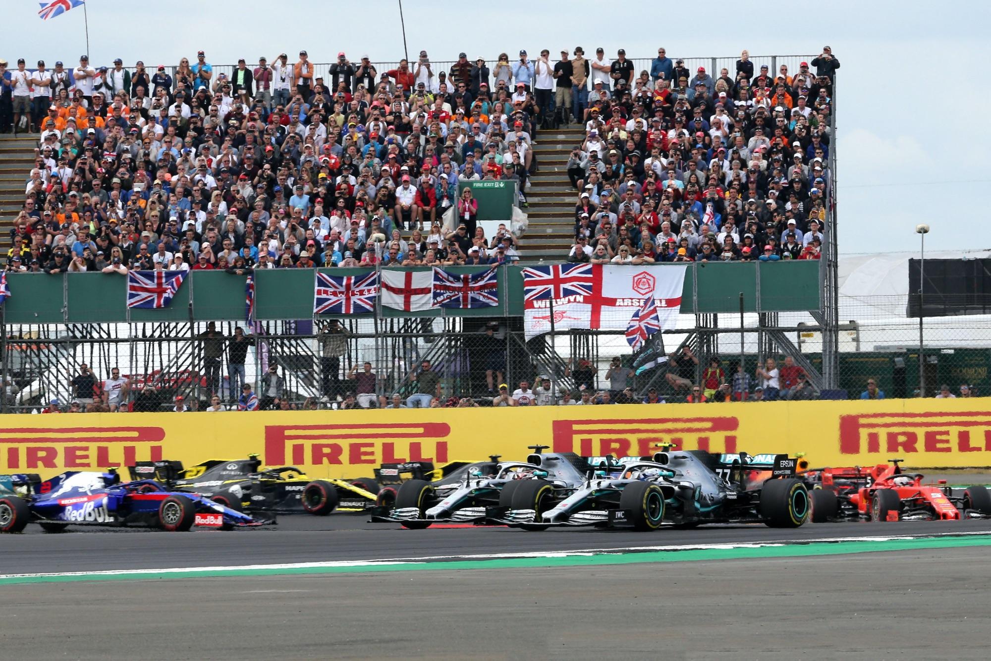 Start of the 2019 British GP