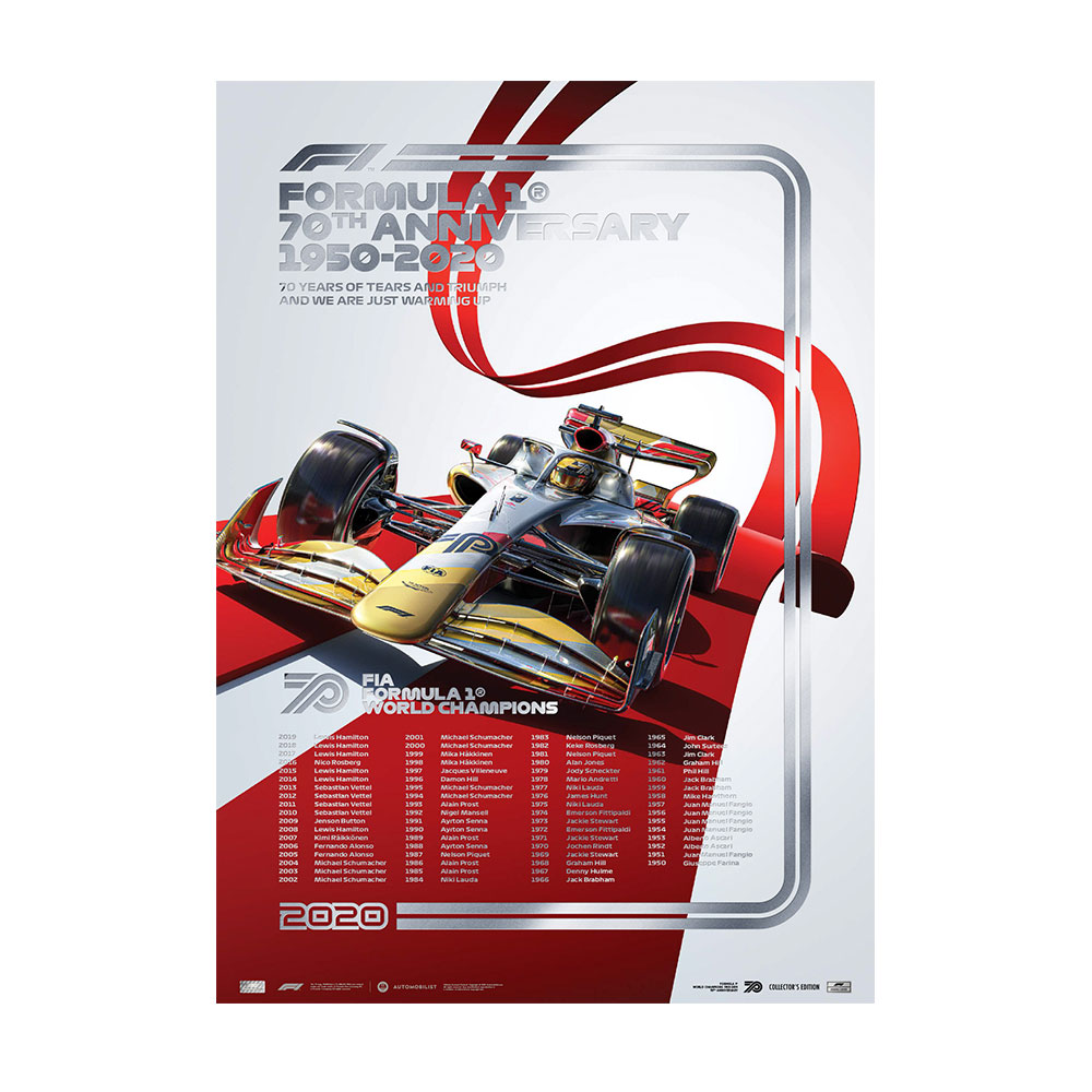 Product image for FIA FORMULA 1® World Champions 1950-2019 - 70th Anniversary | Collector's Silver Edition