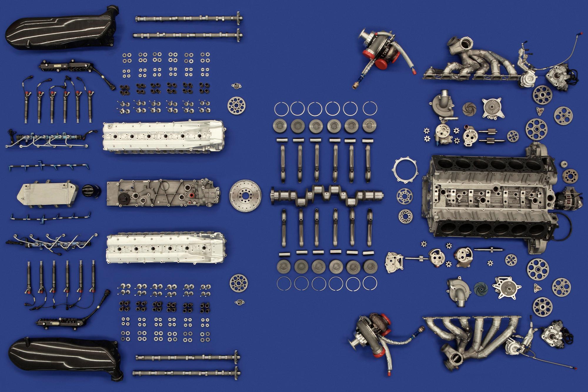 Audi R10 V12 diesel engine parts