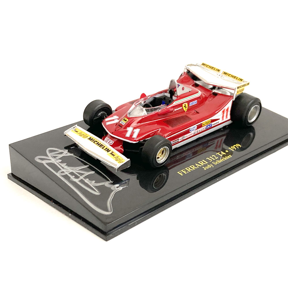 Product image for Ferrari 312T4 Monaco GP win, 1/43 signed Jody Scheckter