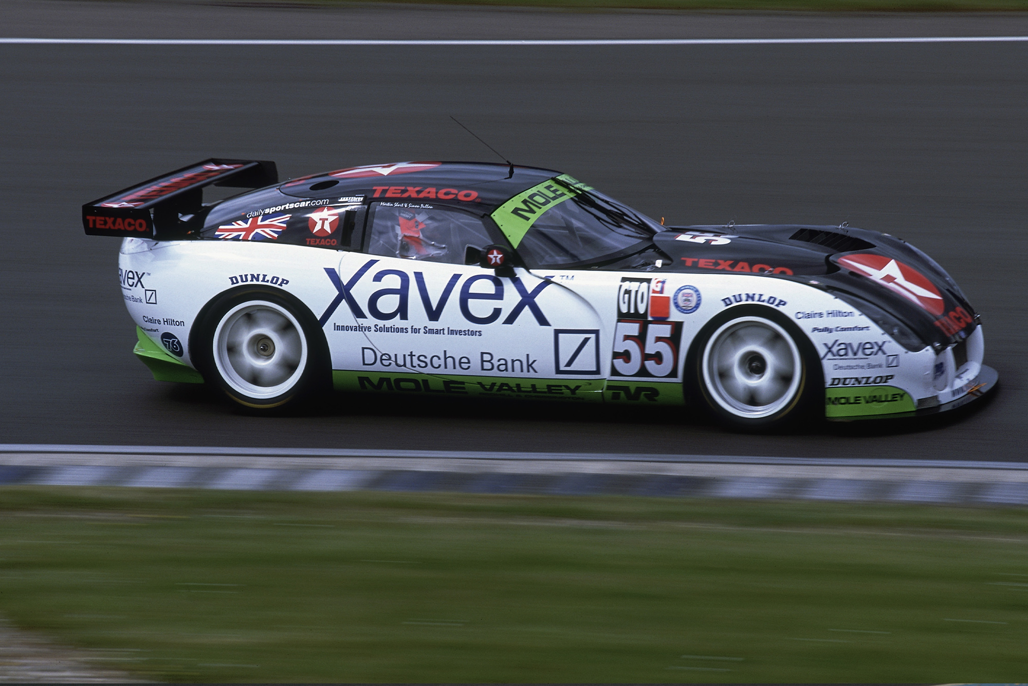 Simon Pullan and Martin Short TVR Tuscan at SIlverstone in the 2002 British GT championship