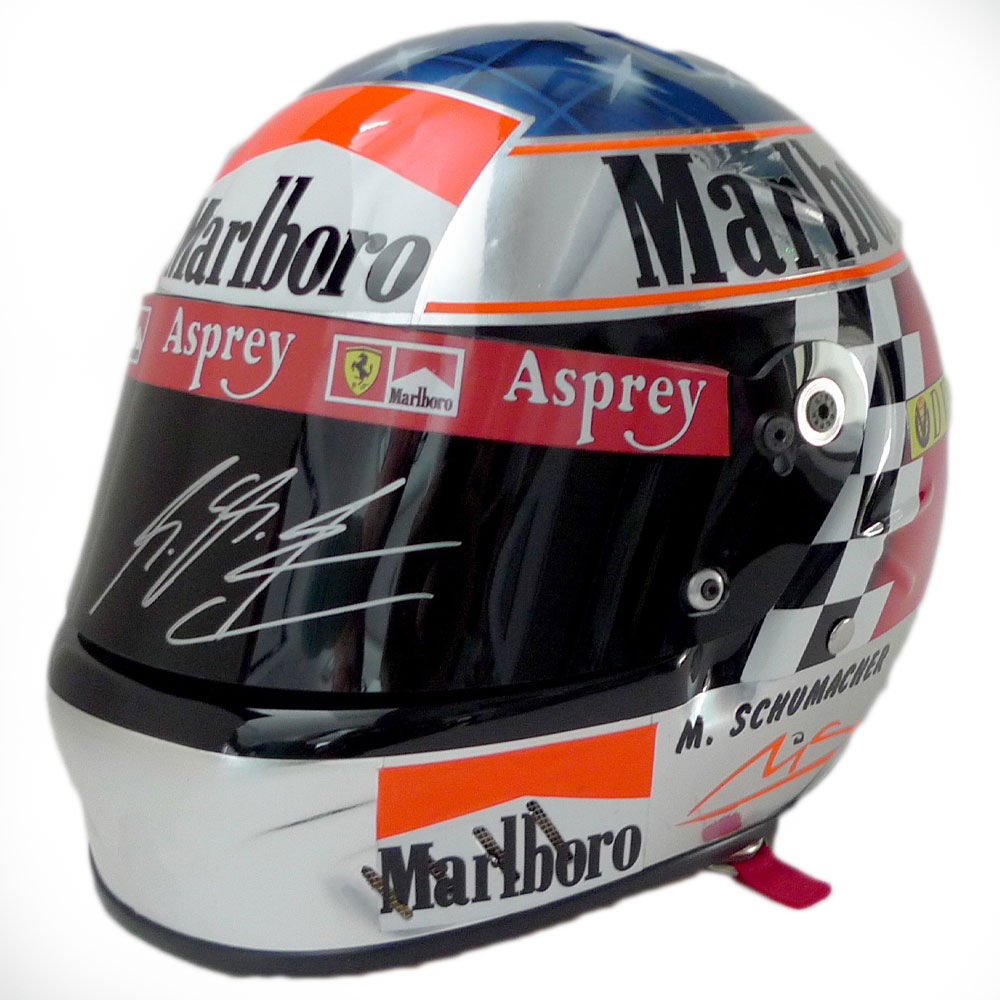 Product image for Ferrari full-size helmet, 1998 season, signed Michael Schumacher