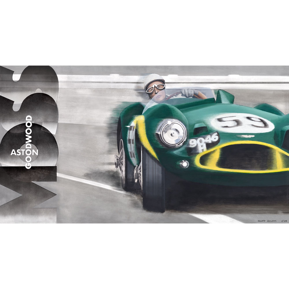 Product image for Stirling Moss in action at Goodwood