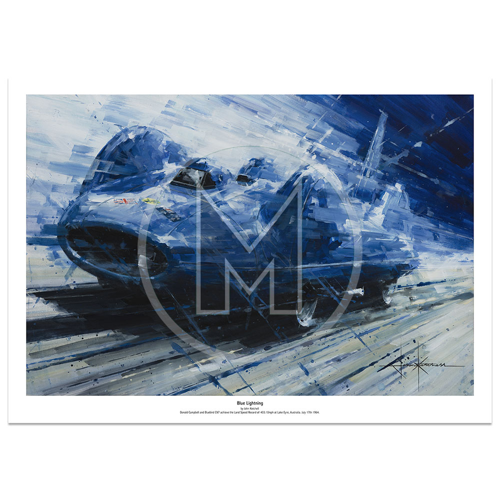 Product image for Blue Lightning | Limited Edition Print