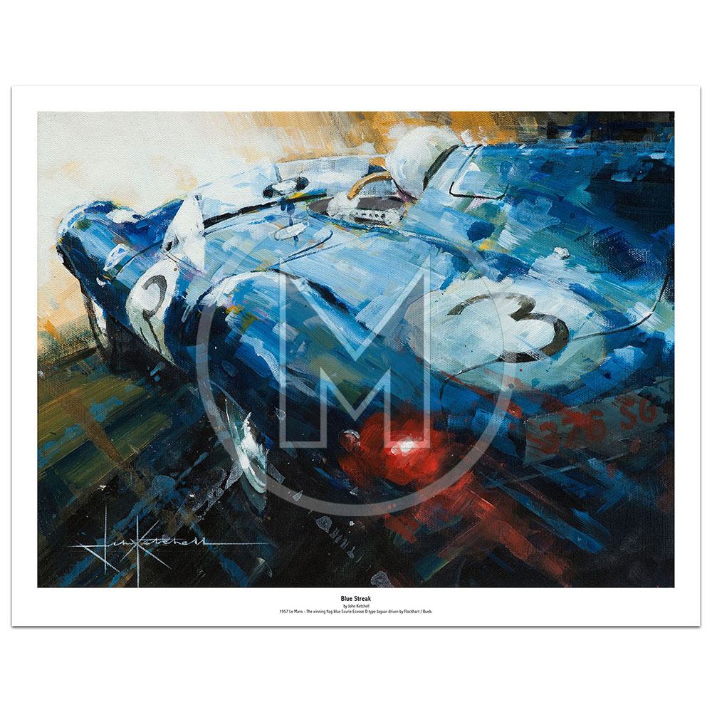 Product image for Blue Streak | Limited Edition Print