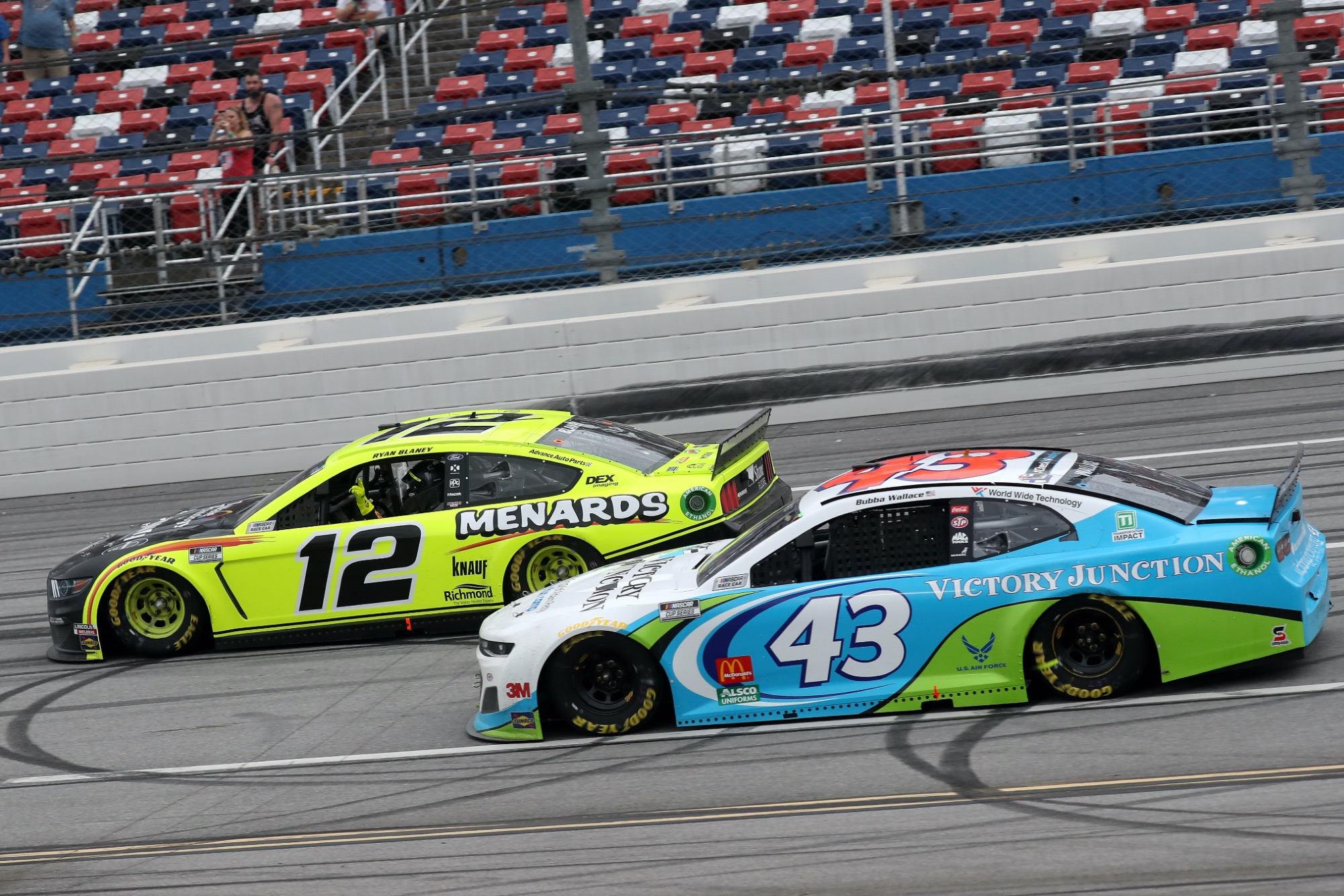 Blaney wins photo finish at Talladega as NASCAR rallies behind Wallace