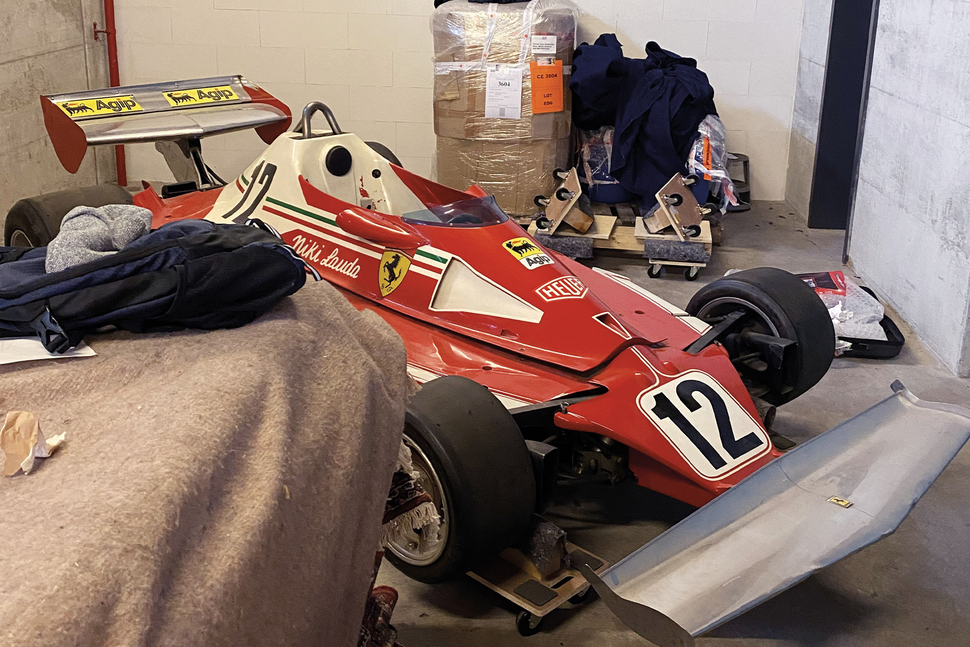 Niki Lauda 312T from 1975 in lock-up