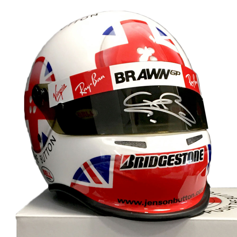 Product image for Jenson Button Signed 2009 British GP Helmet