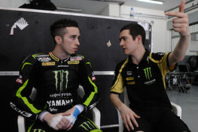 First tests for Andrea Dovizioso and Cal Crutchlow, at Monster Yamaha Tech3