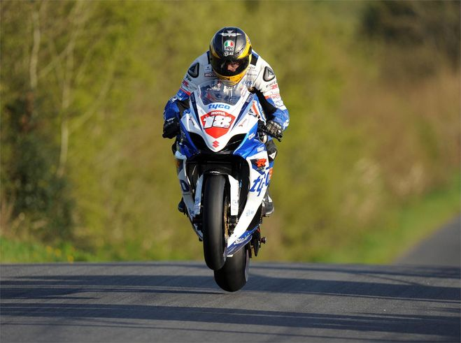 Guy Martin wins in Ireland