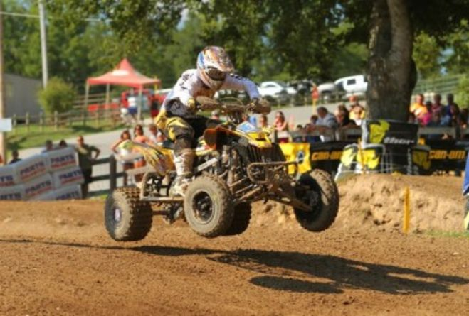 Natalie and Hetrick finish on the podium for the last round of the AMA ATV Motocross Championship