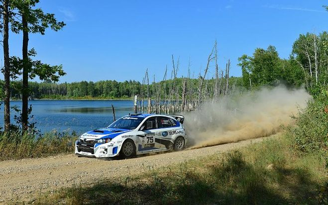 Subaru Driver David Higgins Overcomes Extreme Adversity to Finish 2nd Overall at the Ojibwe Forests Rally
