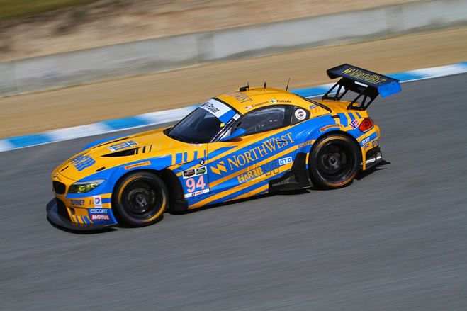 "Turner BMW with ""Nail-Biter"" Finish at Mazda Raceway Laguna Seca, Dane Cameron and Markus Palttala take the Turner BMW Z4 to the top of the podium."