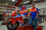 Ian Hutchinson and Lee Johnston line up on the roads for Honda Racing