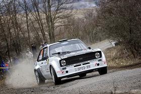 Az Eger Rallye Ráti Gergő pilótaüléséből
