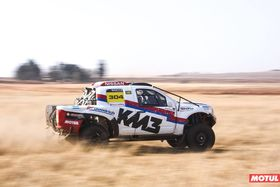 DAKAR RIDER NAVIGATES NISSAN THROUGH BRONKHORSTSPRUIT