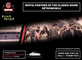 Motul retour aux années 1950 à Rétromobile