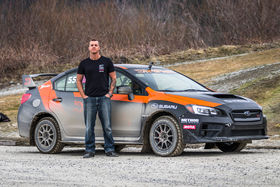 Gymkhana ace Mike Pateras gets to grips at the DirtFish Rally School