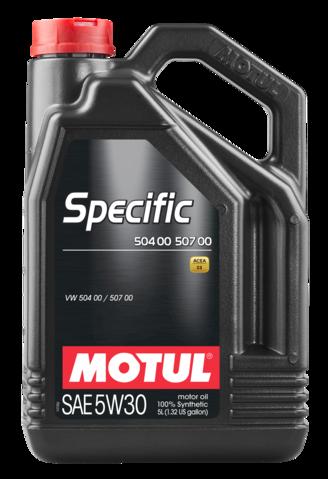 Motul 106375 specific 504 00 507 00 5w30 5l