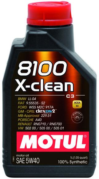 Моторное масло MOTUL 8100 X-Clean 5w-40 4 л - фото 10