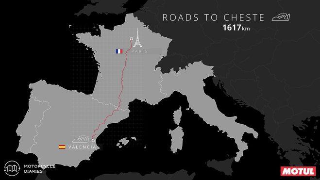 Paris to #ValenciaGP MotoGP