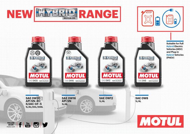 Motul представляет новую линию смазочных материалов Hybrid range