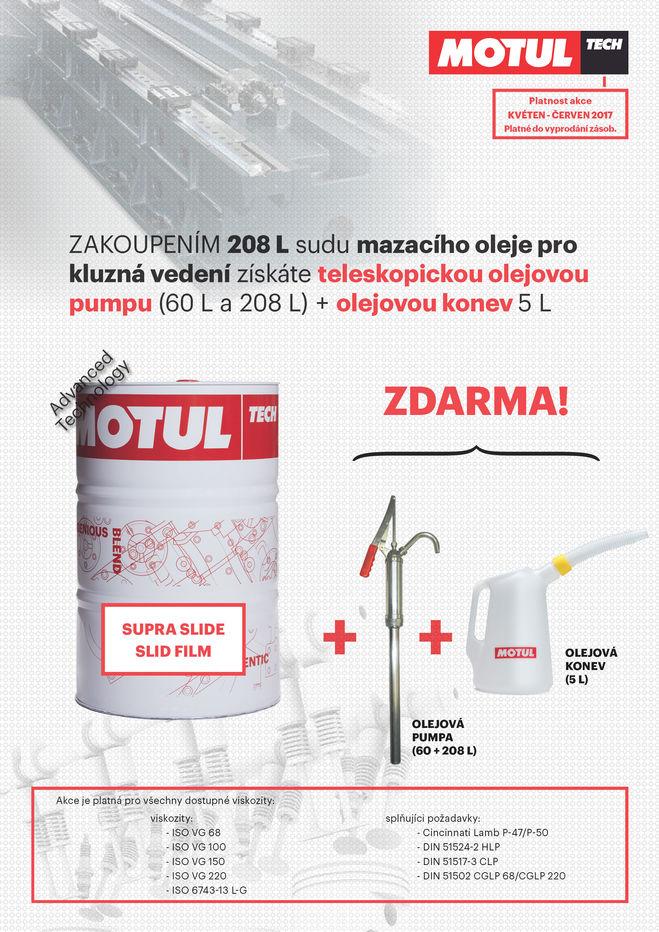 Speciální nabídka mazacích olejů SUPRA SLIDE a SLID FILM