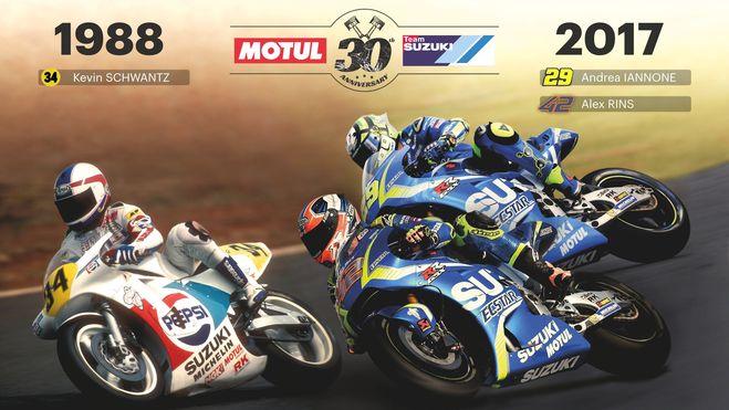 MOTUL και SUZUKI γιορταζουν 30 χρονια συνεργασιας στο MotoGP