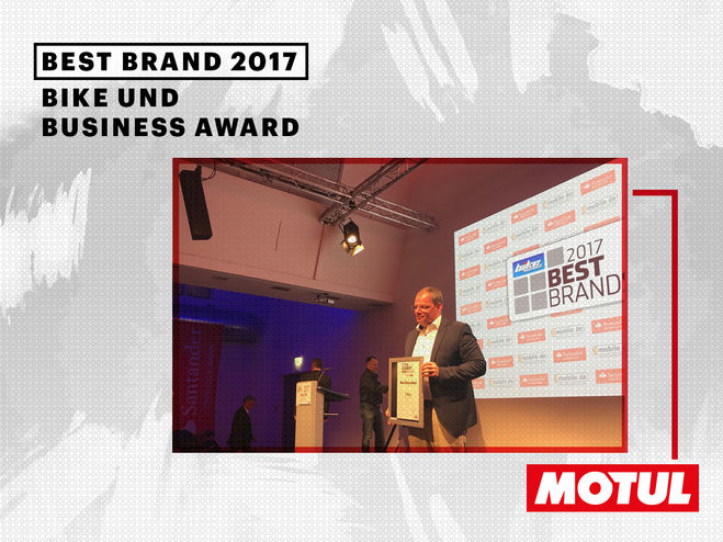 Motul gewinnt Bike and Business Award 2017