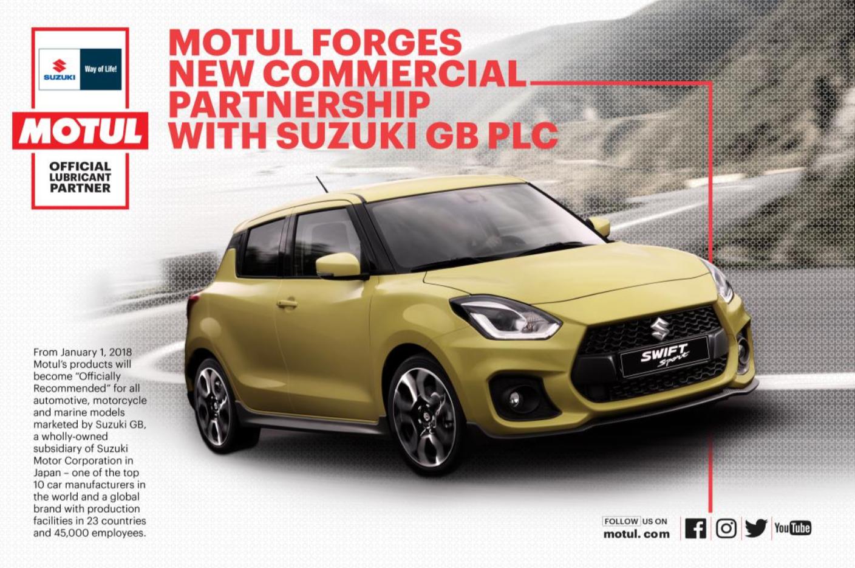 Motul geht eine neue geschäftliche Partnerschaft mit Suzuki GB ein