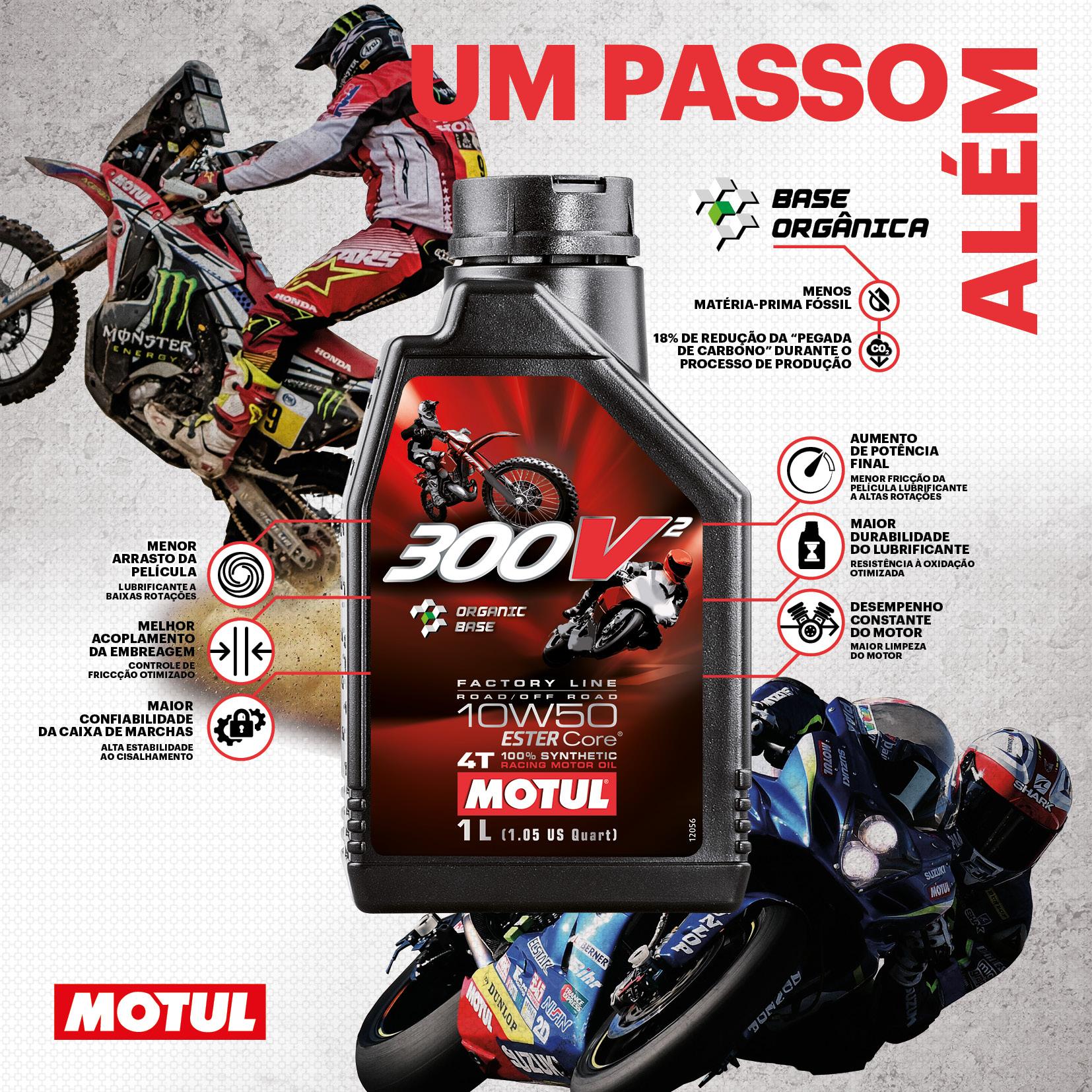 Motul dá um passo além na mundialmente famosa feira EICMA e apresenta um novo óleo de corrida: Motul 300V² 10W50