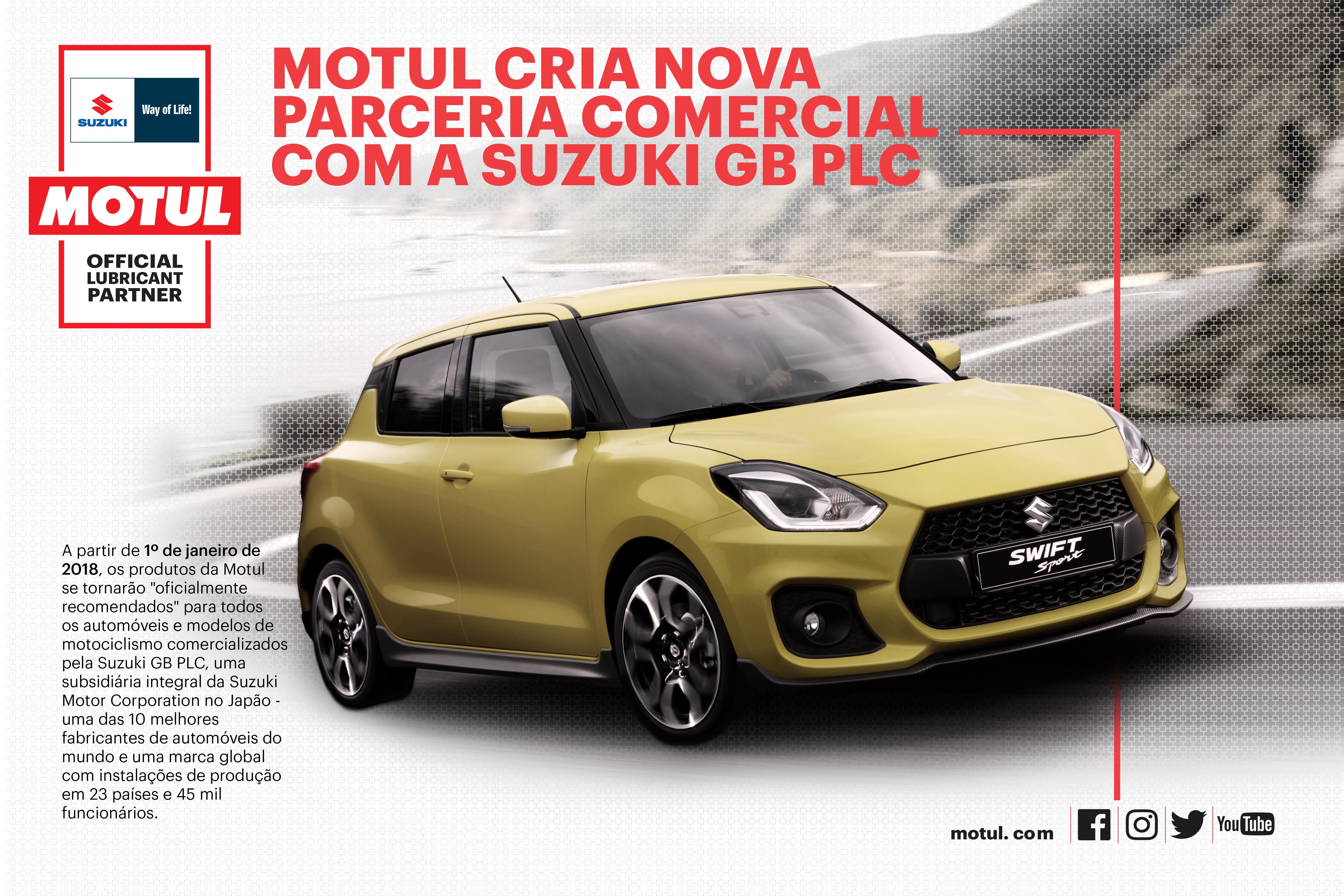 A Motul em uma nova parceria com a Suzuki GB PLC