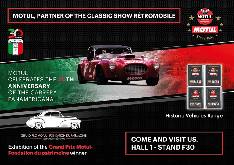 MOTUL CELEBRATES THE 30TH ANNIVERSARY OF THE CARRERA PANAMERICANA AT THE RETROMOBILE 2018