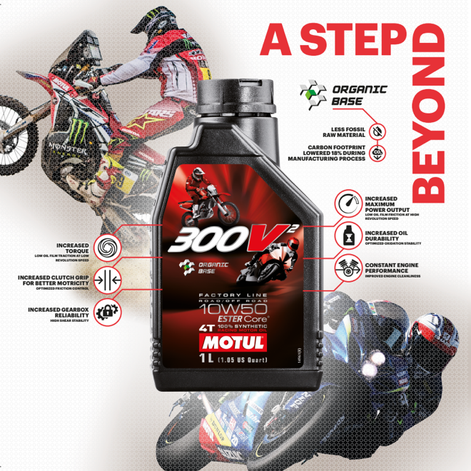 Motul goes a step beyond and launches a new racing oil: Motul 300V² 10W50