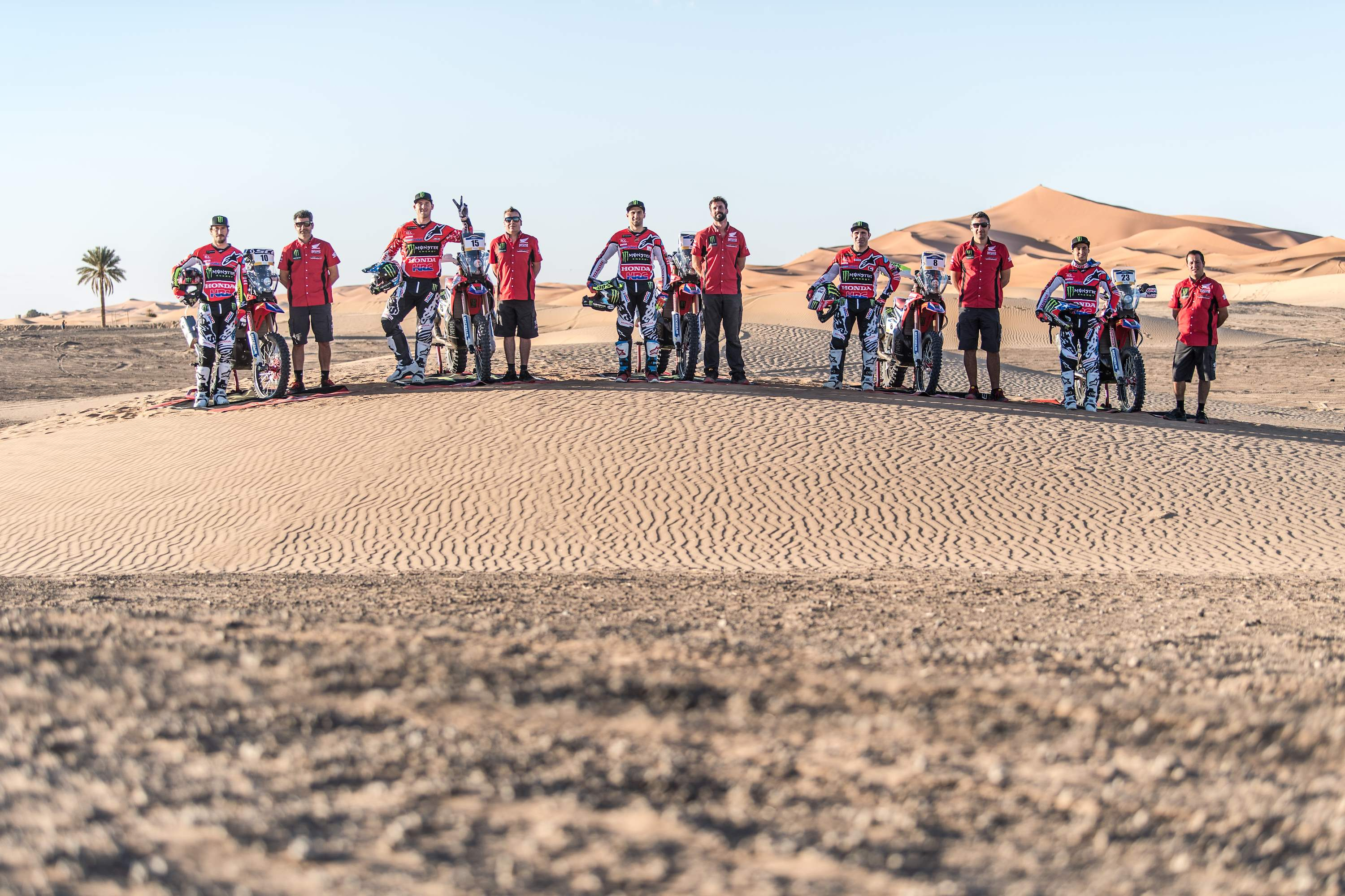 A team manager in the desert