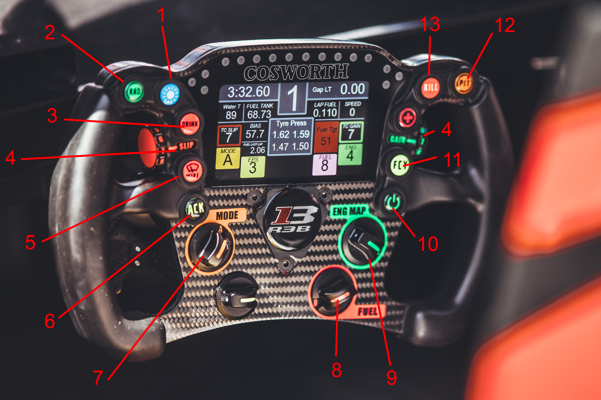 THE REBELLION STEERING WHEEL