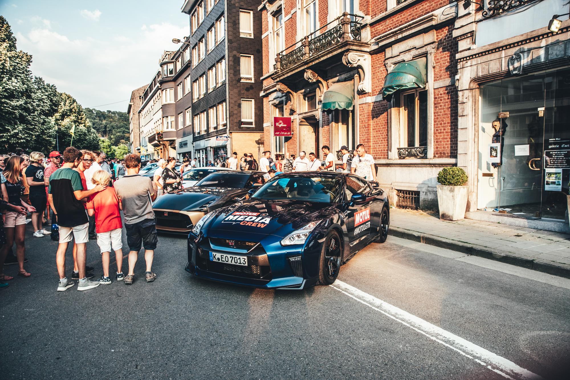 The #MotulGTR parades through Spa.