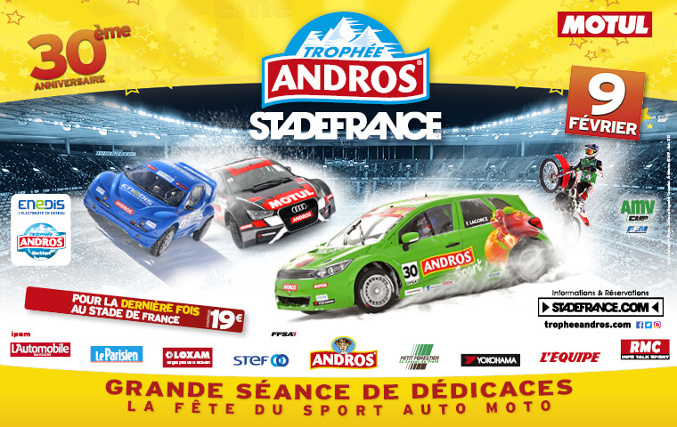 AN ALL-STAR LINEUP FOR THE TROPHÉE ANDROS IN STADE DE FRANCE