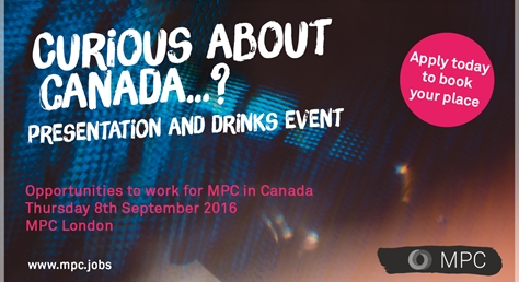 Curious About Canada - presentation and drinks event